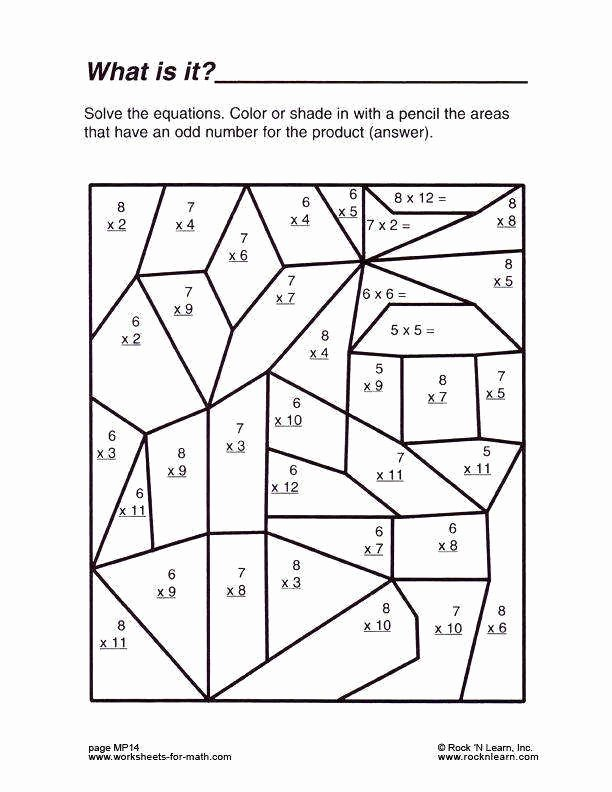 Middle School Math Puzzles Printable Inspirational Multiplication Coloring Printable Middle School Math