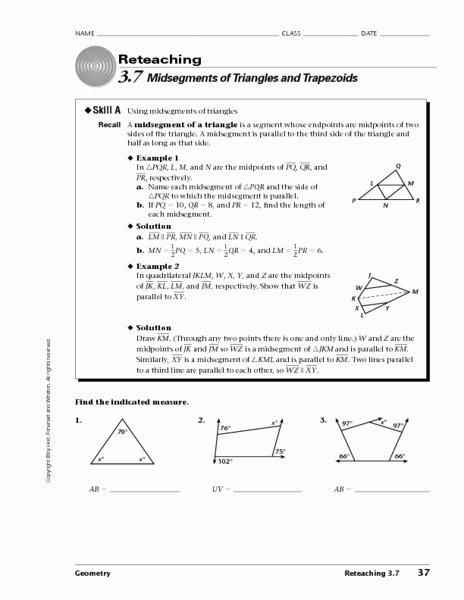 Midsegment Of A Triangle Worksheet Inspirational 28 Midsegment A Triangle Worksheet Worksheet Resource Plans
