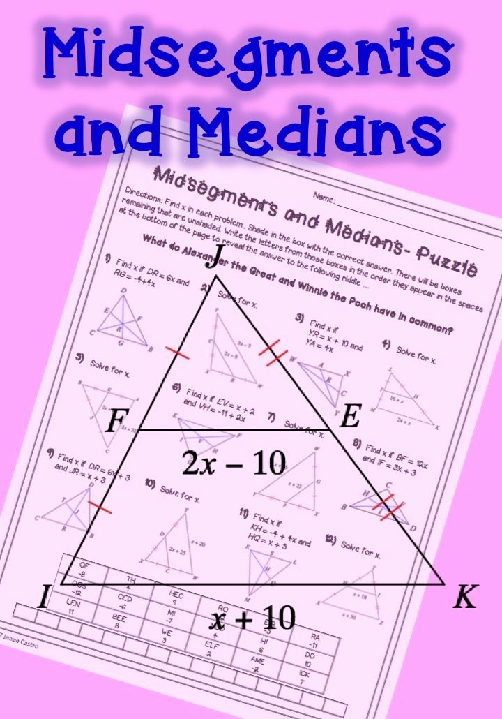 Midsegment theorem Worksheet Answer Key Ideas Midsegments and Medians Of Triangles Midsegment theorem and