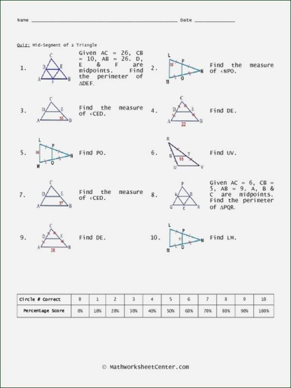 Midsegment theorem Worksheet Answer Key Kids Midsegment theorem Worksheet Answer Key Worksheet List