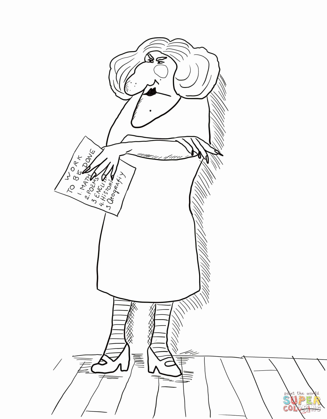 Miss Nelson is Missing Printables Ideas Miss Viola Swamp Coloring Page