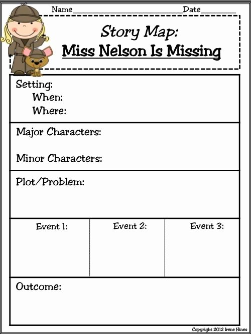 Miss Nelson is Missing Printables Kids Miss Nelson is Missing Es Back Has A Field Day Unit