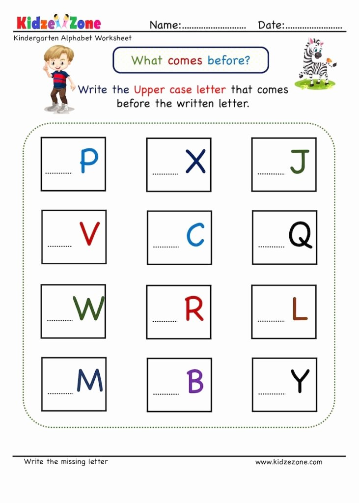 Missing Letter Worksheets for Kindergarten Fresh Kindergarten Missing Letter Worksheet Es before