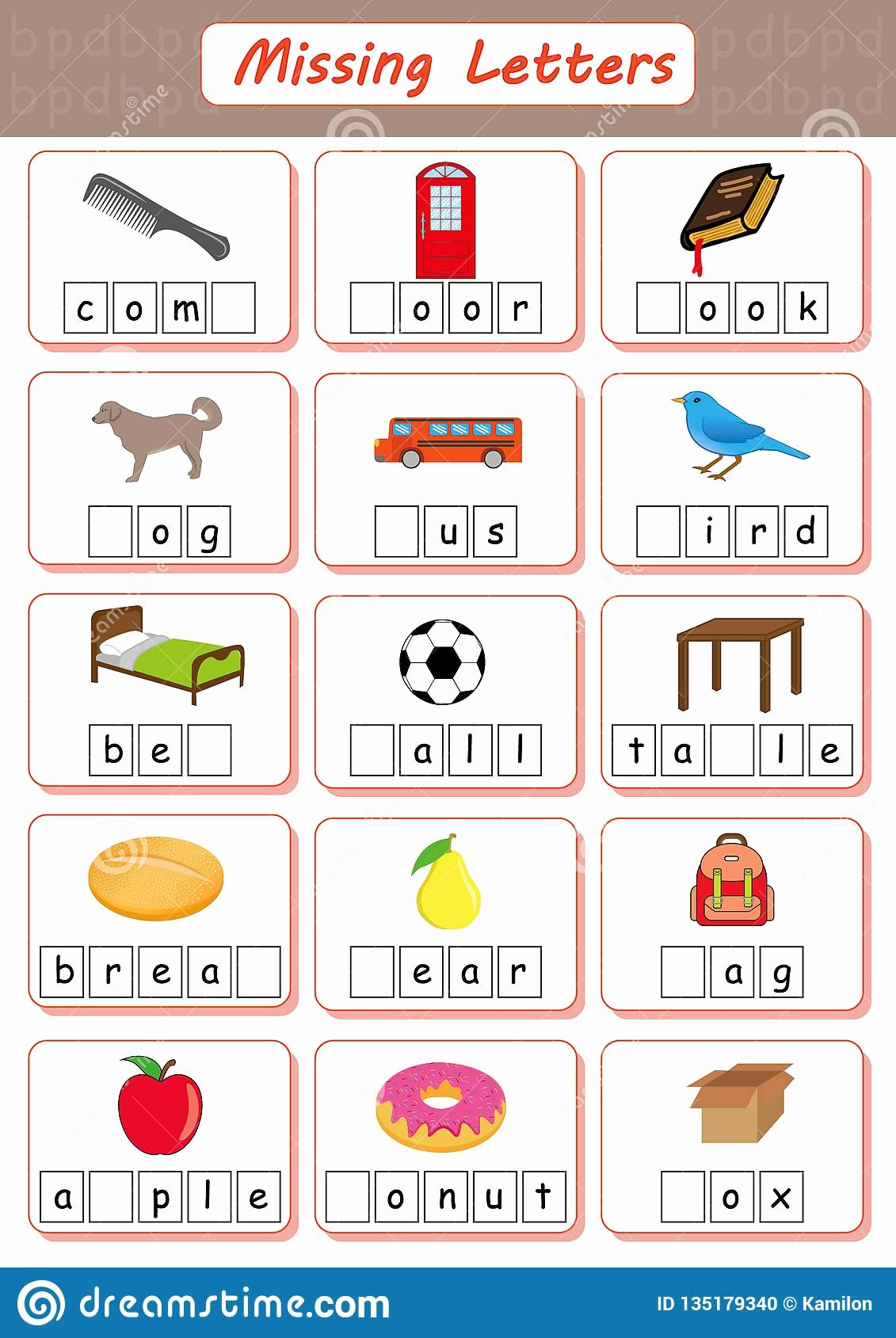 Missing Letters Worksheet for Kindergarten Best Of Missing Letters Find the and Write them In Dyslexia