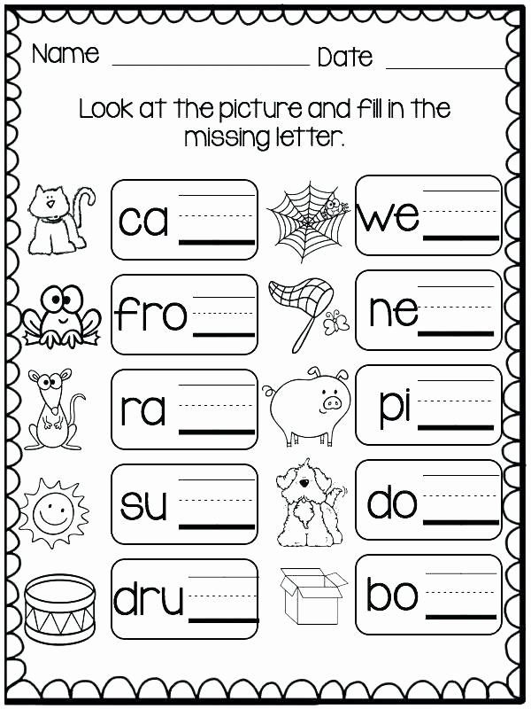 Missing Letters Worksheet for Kindergarten Inspirational Missing Letters Worksheets for Kindergarten Three Letter