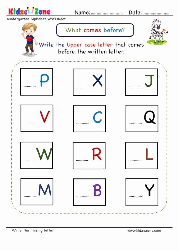 Missing Letters Worksheet for Kindergarten top Kindergarten Missing Letter Worksheet Es before