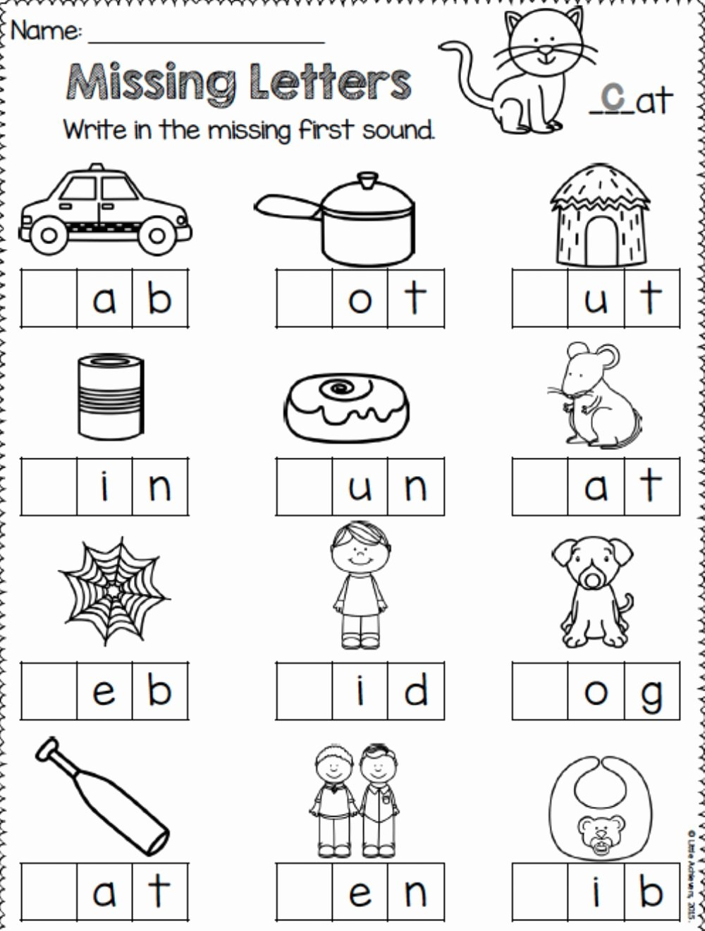 Missing Letters Worksheets for Kindergarten Free Missing Letters Interactive Worksheet
