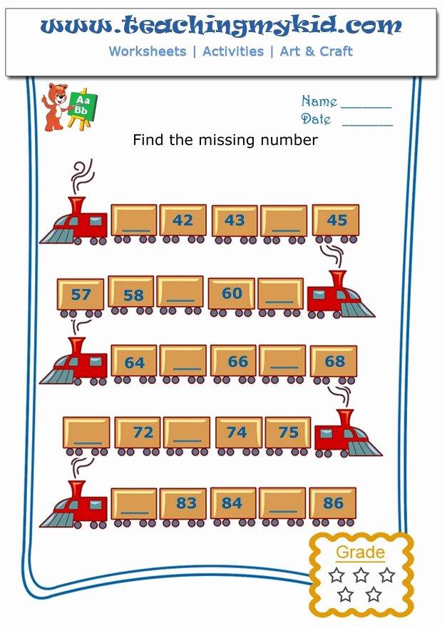 Missing Number Worksheet for Kindergarten Ideas Kids Math Worksheets Write the Missing Number for Number52