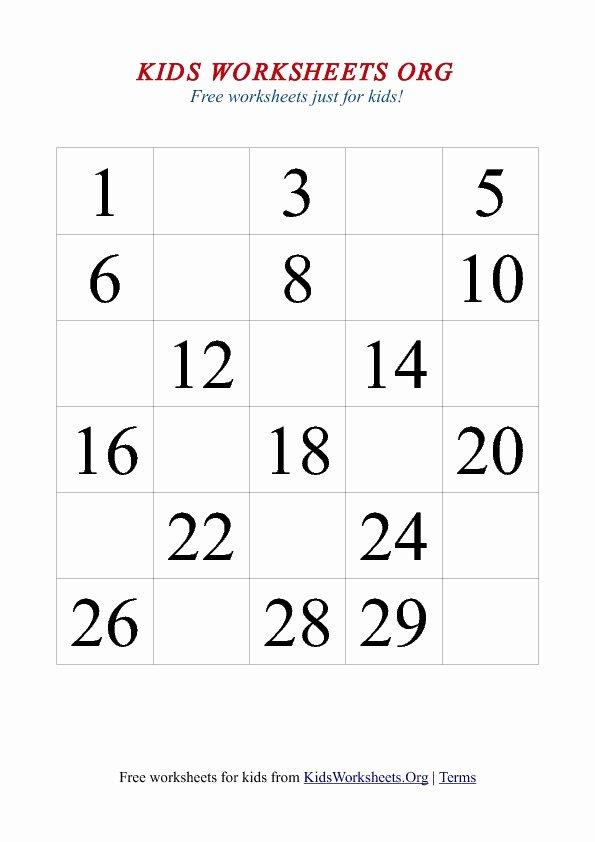 Missing Number Worksheets 1 20 Kids Missing Number Worksheet April 2015