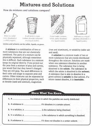Mixtures and solutions Worksheet Answers Fresh Free Mixtures and solutions Worksheets