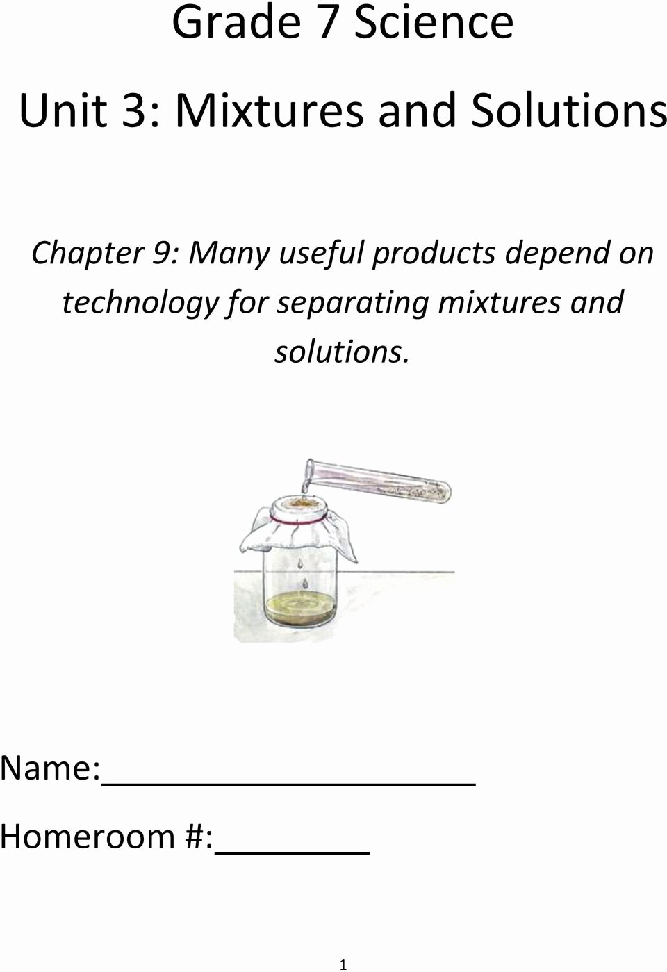 Mixtures and solutions Worksheet Answers Ideas Grade 7 Science Unit 3 Mixtures and solutions Pdf Free