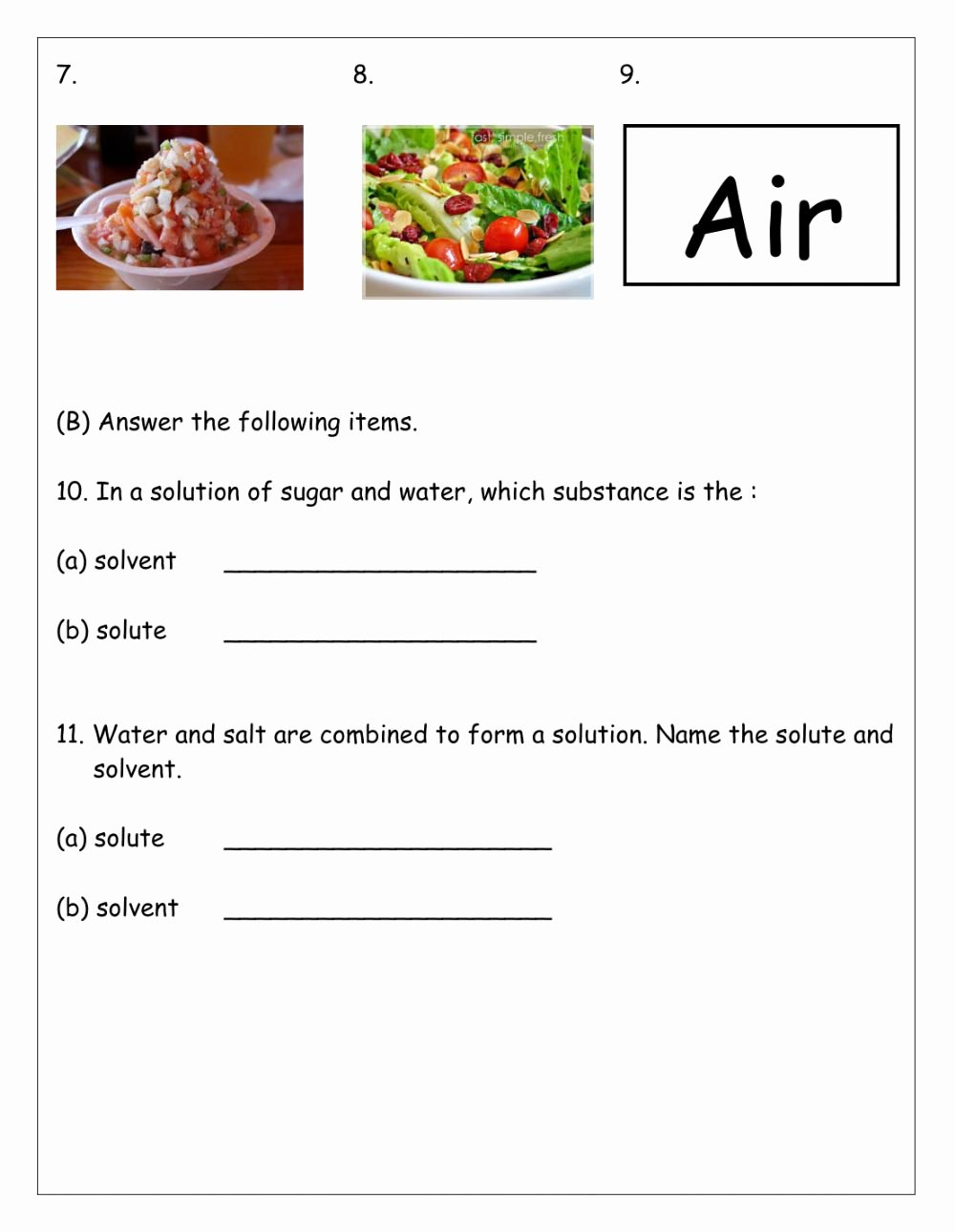 Mixtures and solutions Worksheet Answers Lovely Mixtures and solution Interactive Worksheet