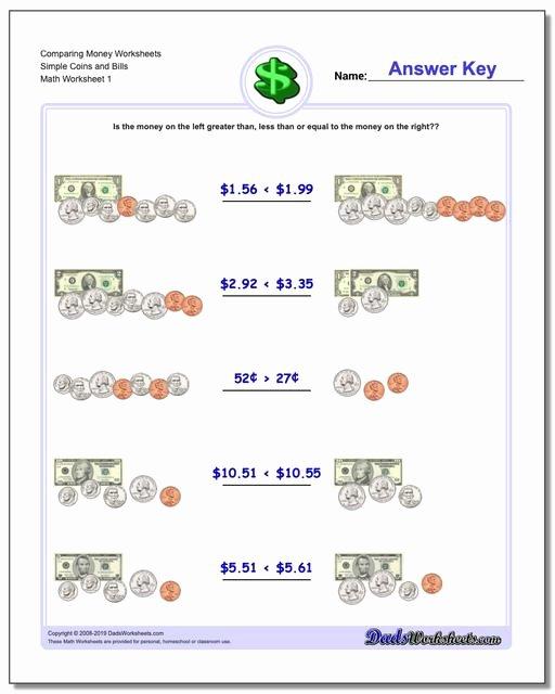 Money Worksheets for 3rd Grade Lovely Paring Money