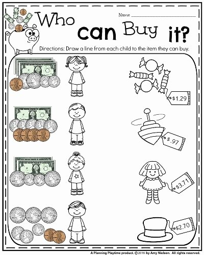 Money Worksheets for Second Grade Lovely Money Worksheets for 2nd Grade Planning Playtime