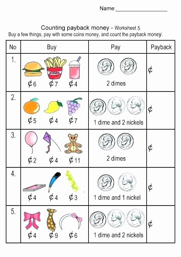 Money Worksheets for Second Grade top 2nd Grade Money Worksheets Best Coloring Pages for Kids