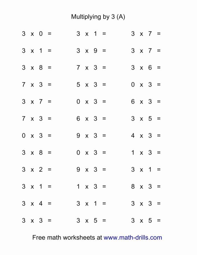 Multiplication Facts Worksheet Generator Free Inspirational Horizontal Multiplication Facts Questions by Worksheets