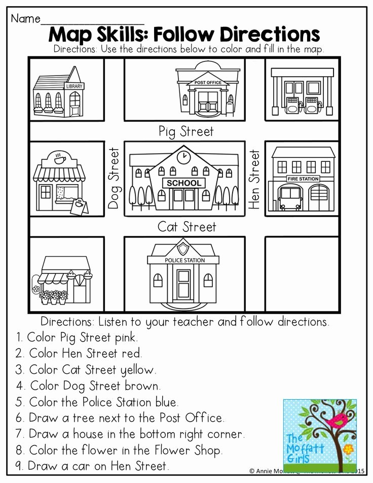 Map Worksheets for First Grade Ideas April No Prep Packet Kindergarten