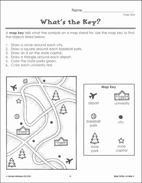 Map Worksheets for First Grade Printable I1 600—774