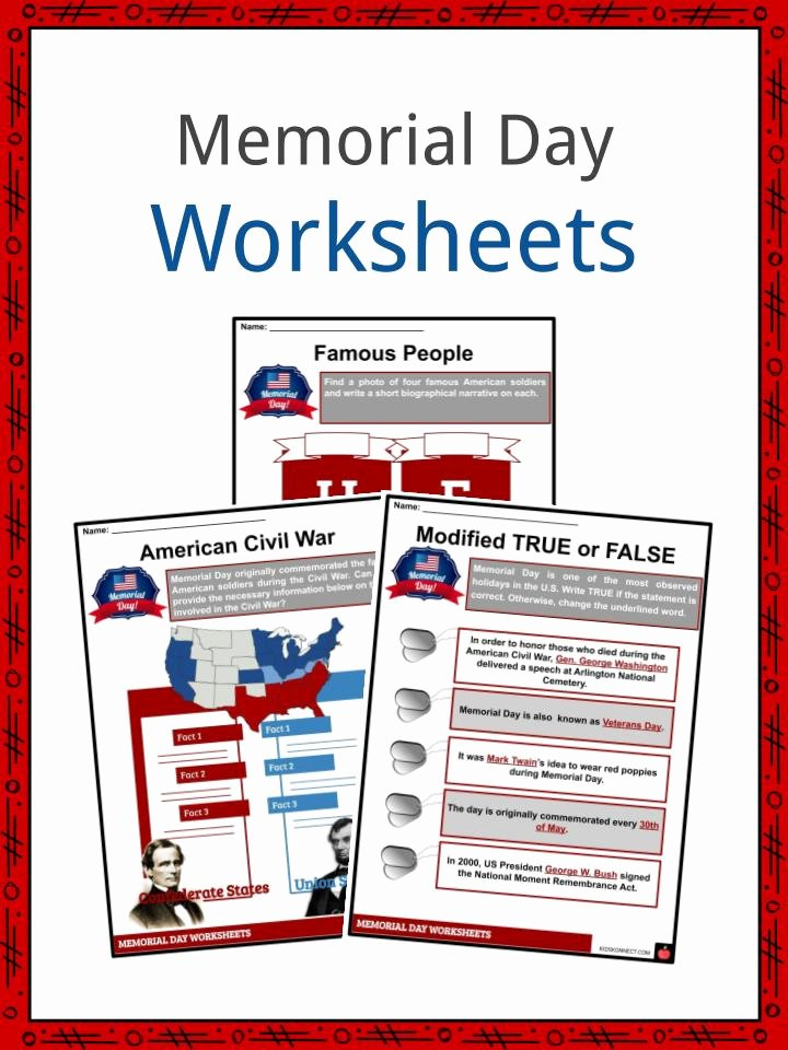 Memorial Day Reading Comprehension Worksheets Ideas Memorial Day Facts Worksheets & Historical Information for Kids