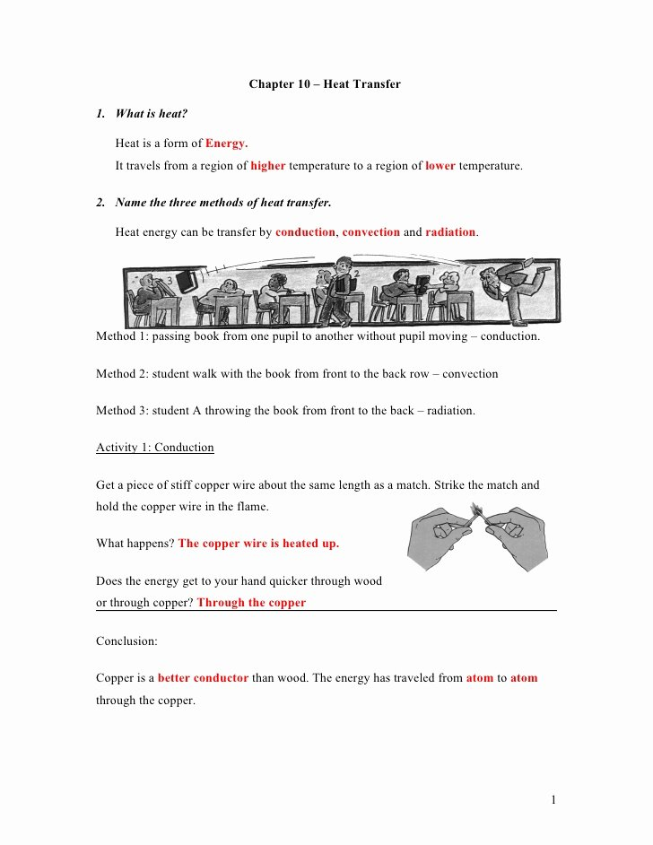 Methods Of Heat Transfer Worksheet Fresh 3 Nt Chapter 8 Heat Transfer Classnotes Answer