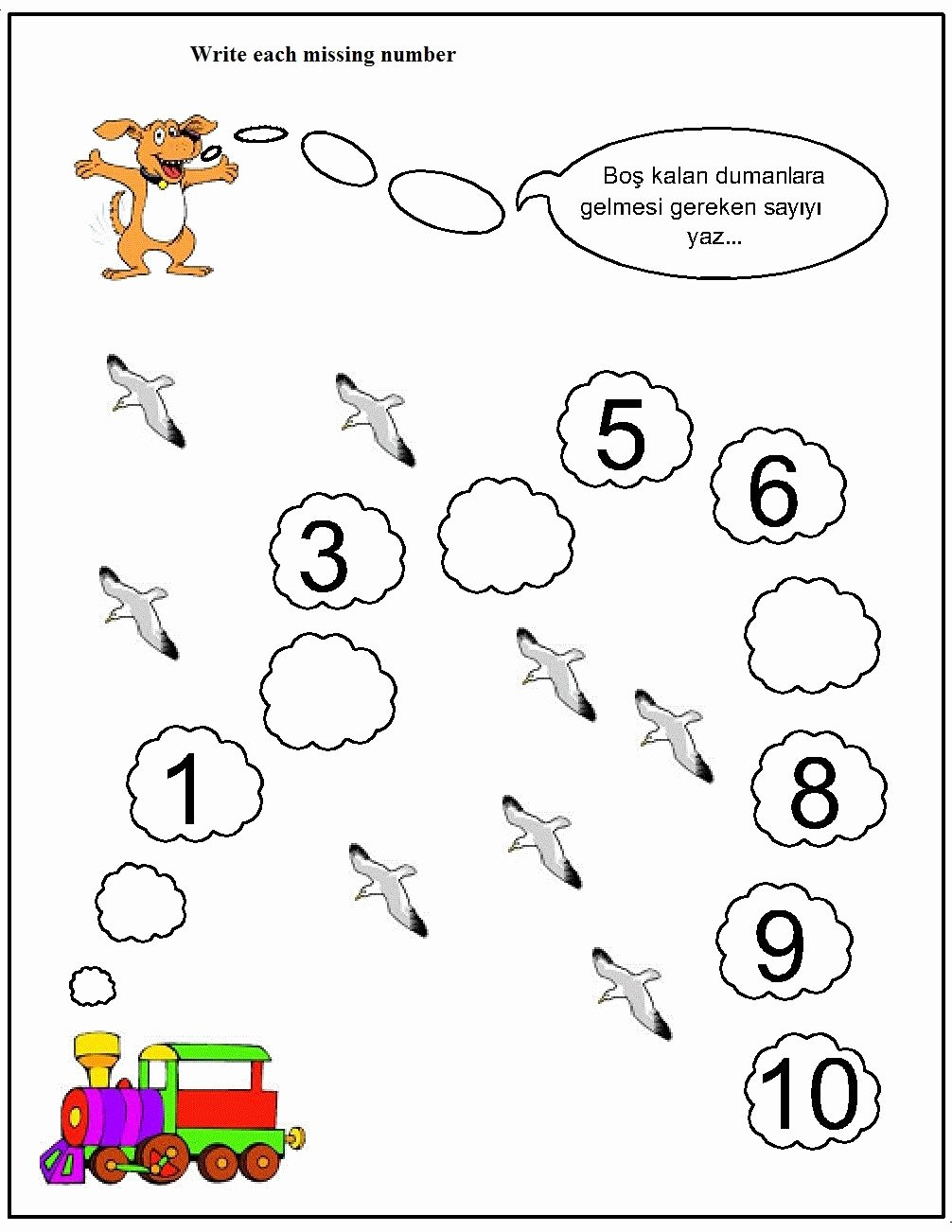 Missing Number Worksheets 1 10 New Missing Number Worksheet for Kids 1 10