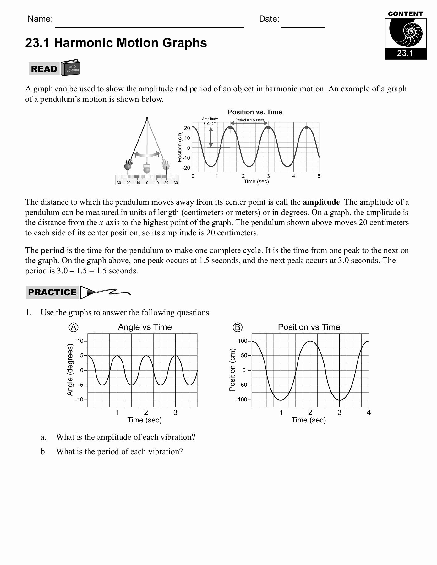 Motion Graphs Worksheet Answer Key Ideas Motion Graphs Physics Worksheet Answers Worksheet List