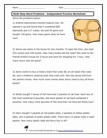 Multiple Step Word Problem Worksheets Best Of Multi Step Word Problems Lessons Tes Teach