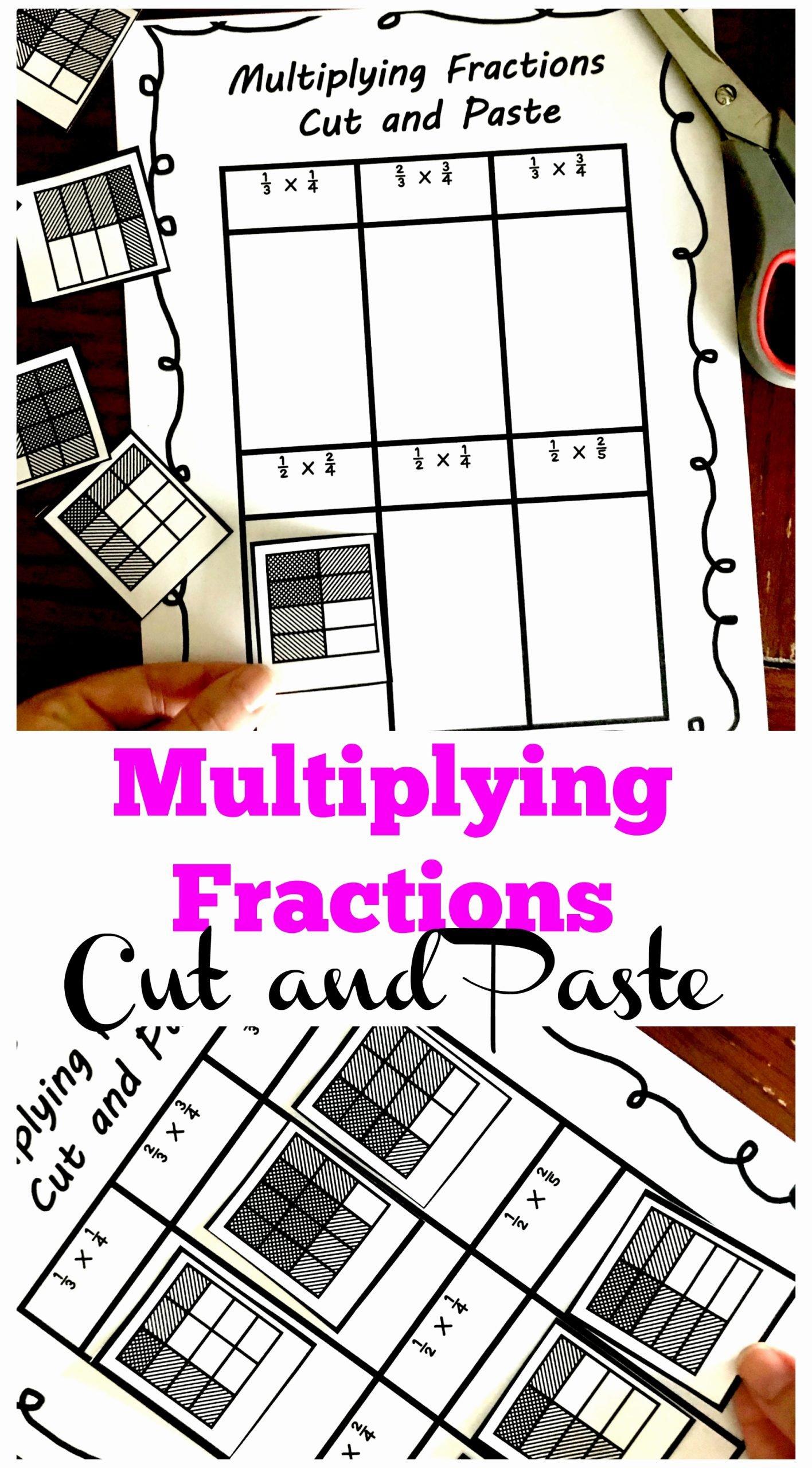 Multiplying Fractions area Model Worksheet Fresh 3 Cut and Paste Worksheets for Multiplying Fractions Practice