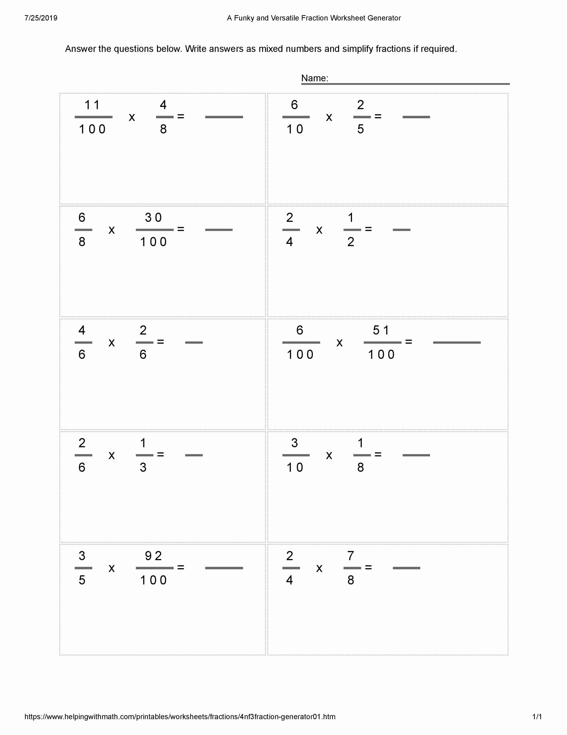 Multiplying Fractions area Model Worksheet Ideas Multiplying Unit Fractions Worksheets