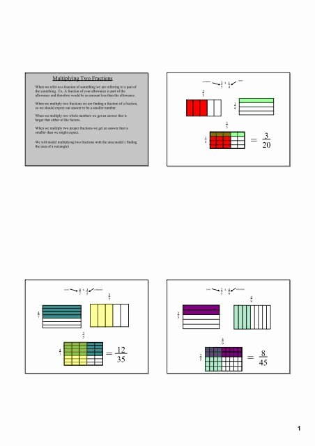 Multiplying Fractions area Model Worksheet New Multiplying Fractions area Model and Symbolic Pdf