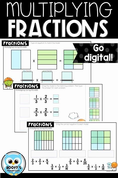 Multiplying Fractions area Model Worksheet New Multiplying Fractions Using Models Digital Activities