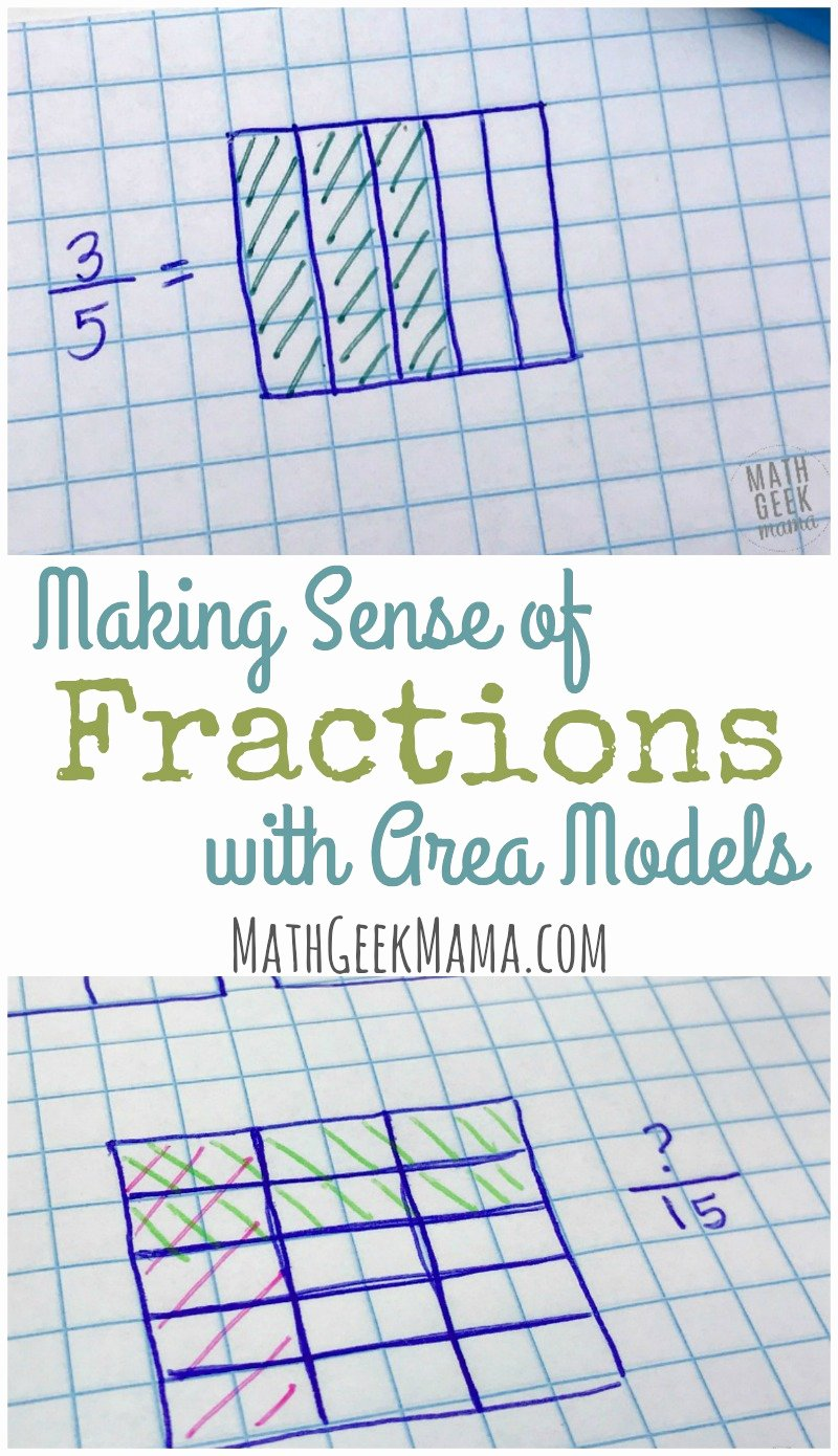 Multiplying Fractions area Model Worksheet Printable Deepening Fraction Sense with Fractions area Models