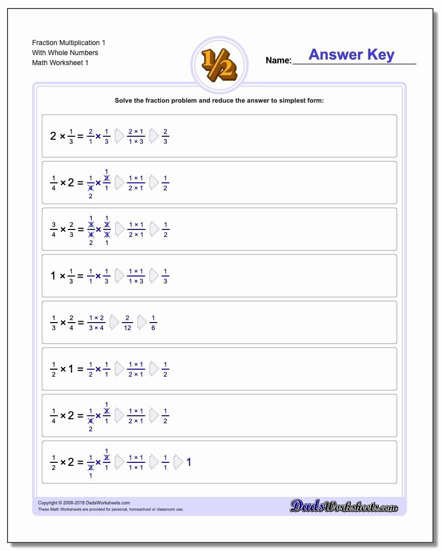 Multiplying Fractions Worksheet 6th Grade Free Fraction Multiplication