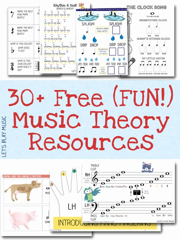 Music theory Worksheet for Kids Free Music theory Worksheets & Rhythm Games Let S Play Music