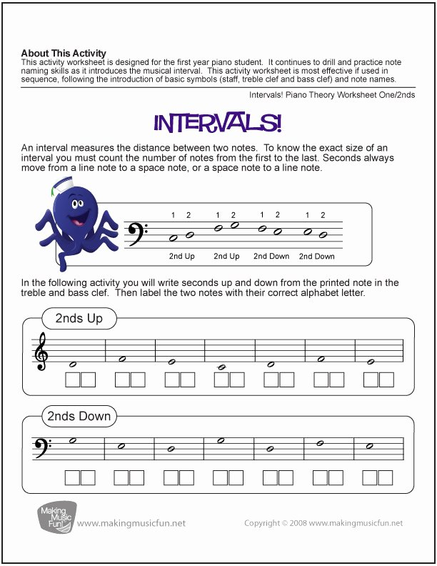 Music theory Worksheet for Kids Printable 10 Music theory Worksheets and Games for Kids – Bluebird