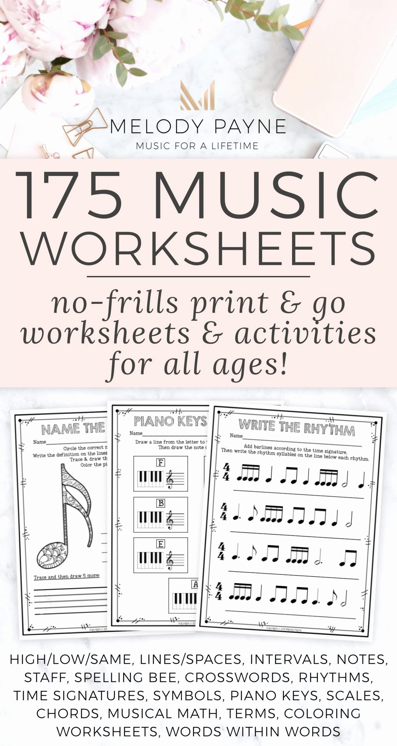 Music Worksheets for Middle School Free 200 Music Distance Learning Music Worksheets Pdf & Digital