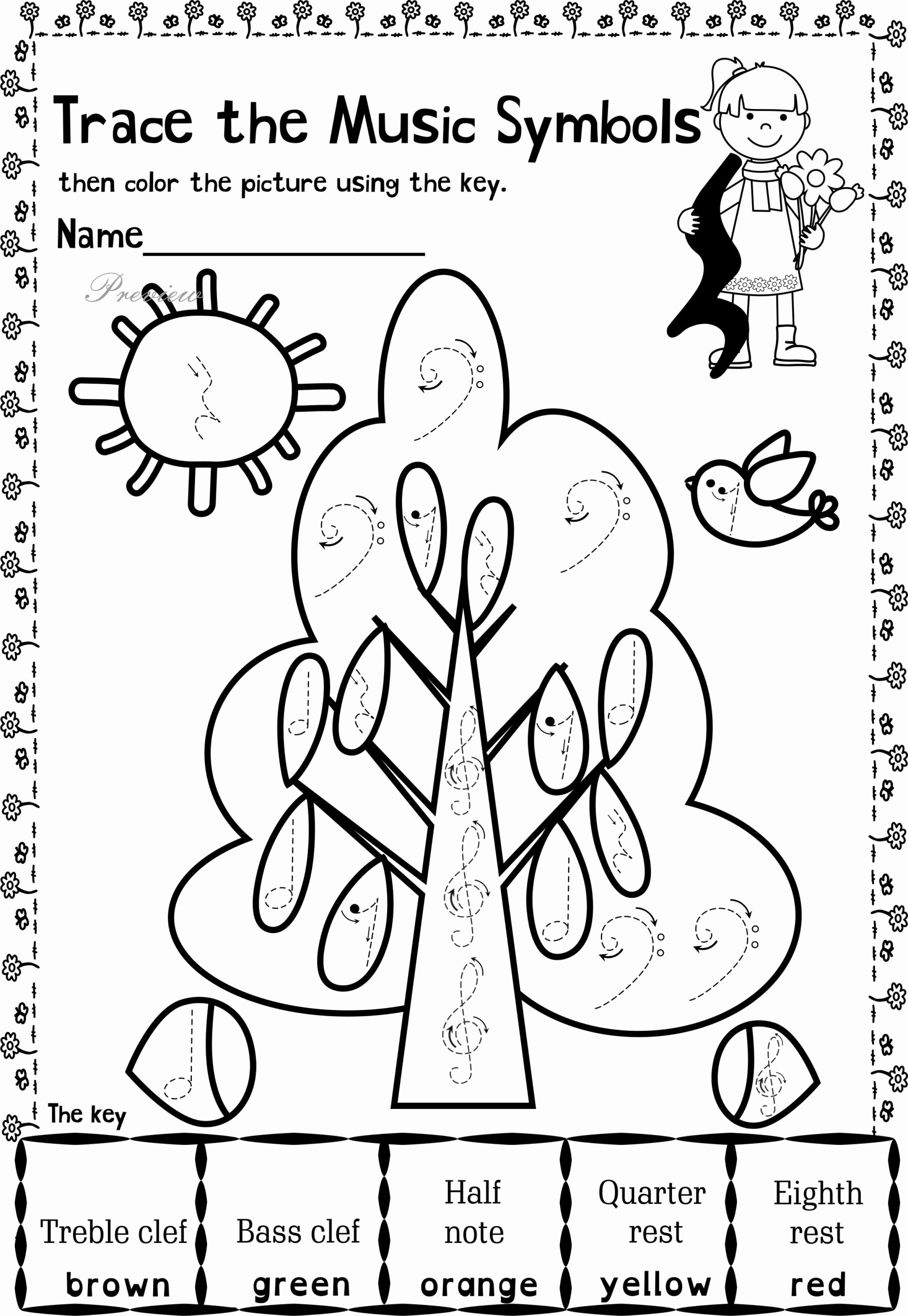 Music Worksheets for Middle School Kids Music themed Coloring at Getdrawings Free Worksheets for