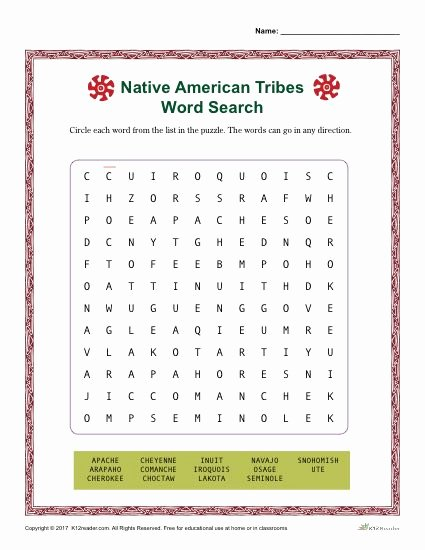 Native American Worksheets 5th Grade Fresh Native American Heritiage Month