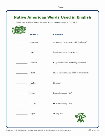 Native American Worksheets 5th Grade Fresh Printable Native American Heritiage Month Word Activity
