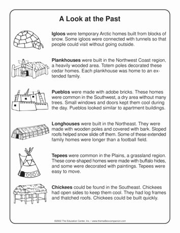 Native American Worksheets 5th Grade Ideas Teacher Ideas & Activities Native Americans