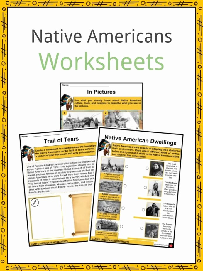 Native American Worksheets 5th Grade Lovely Native History Facts Worksheets Way Life Culture for Kids