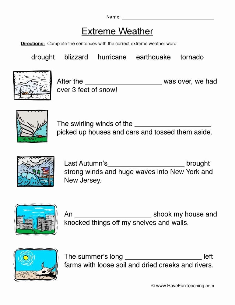 Natural Resources Worksheets 3rd Grade top Natural Resources Worksheets Pdf Natural Disasters Fill In