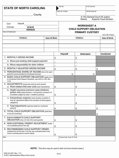 Nc Child Support Worksheet C Fresh Child Support software Advanced Legal software