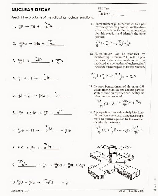 Nuclear Decay Worksheet Answer Key Kids tom Schoderbek Chemistry Nuclear Decay Half Lives Worksheet