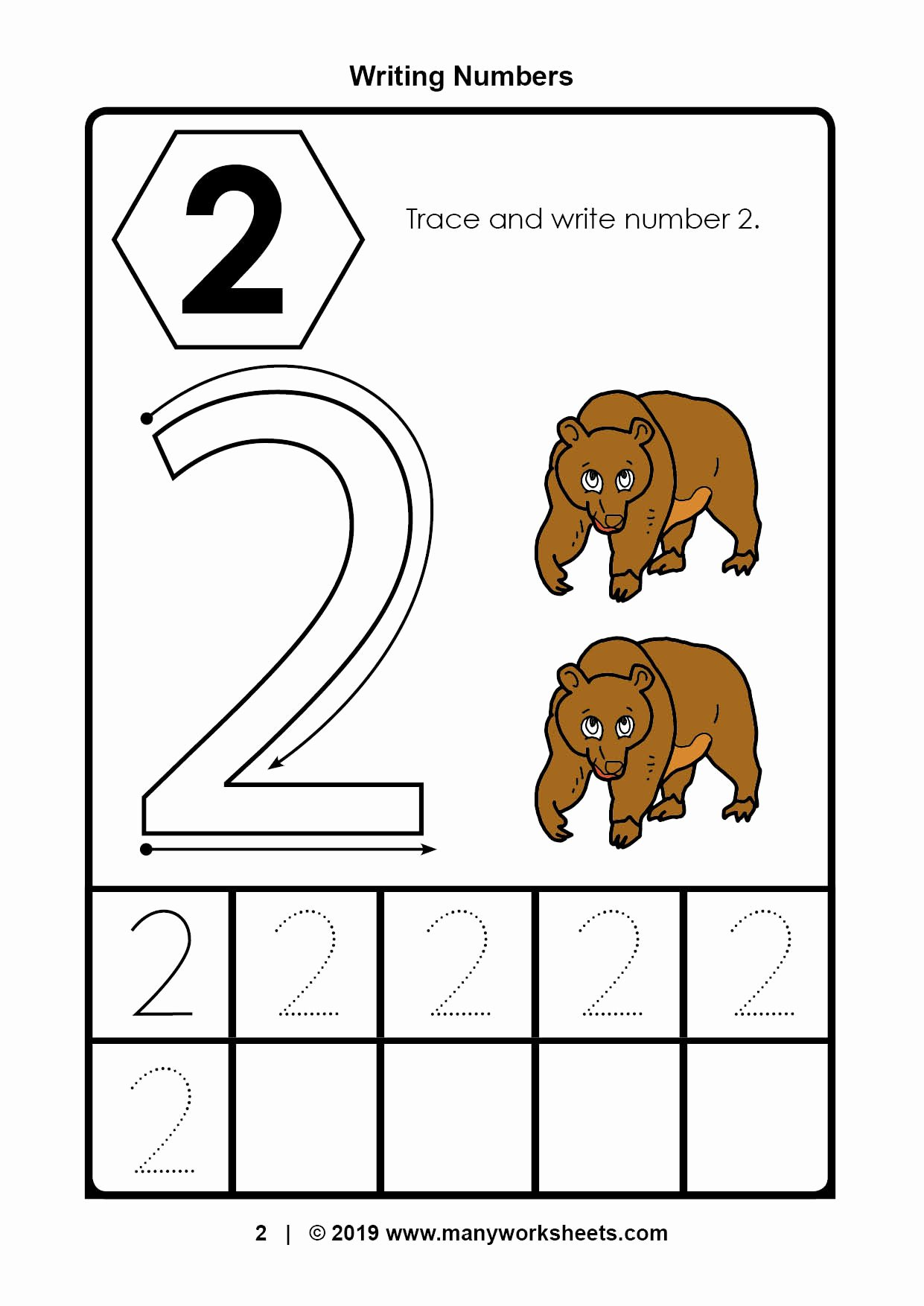 Number 2 Worksheets for Preschool Fresh Tracing Number Worksheets for Kindergarten Preschool Ratio