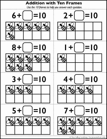 Number Bonds to 10 Worksheet Fresh Free Number 10 Worksheets for Kindergarten Grade 1