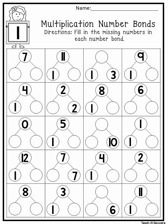 Number Bonds to 10 Worksheet top 12 Printable Multiplication Number Bonds Worksheets Numbers 1 12 1st 4th Grade Math