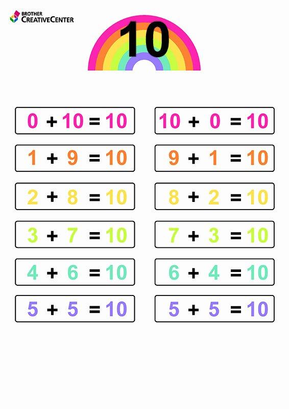 Number Bonds to 10 Worksheet top Free Printable Number Bonds for 10