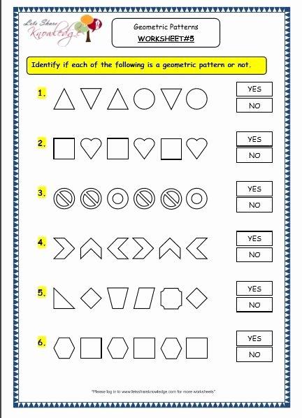 Number Patterns Worksheets 3rd Grade Inspirational Grade 3 Maths Worksheets 14 9 Geometry Geometric Patterns