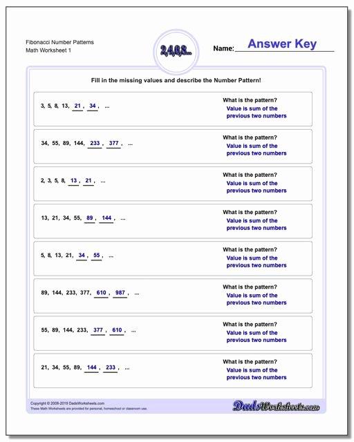 Number Patterns Worksheets 3rd Grade Printable Number Patterns